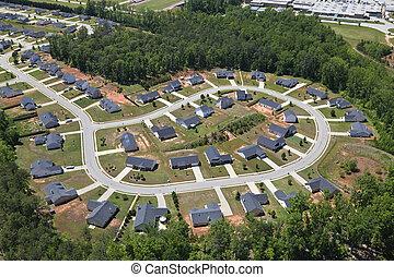 Suburban Culdesac Aerial