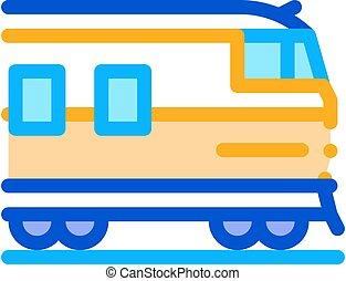 suburban electric train icon vector outline illustration