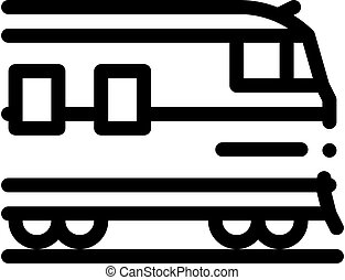 suburban electric train icon vector outline illustration