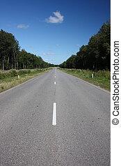 Suburban empty road.