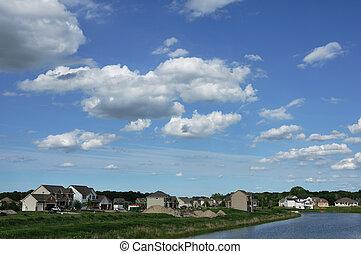 Suburban Executive Homes by Lake