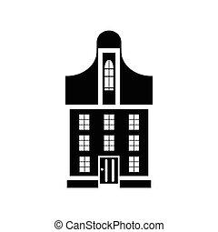 Suburban family house icon, simple style