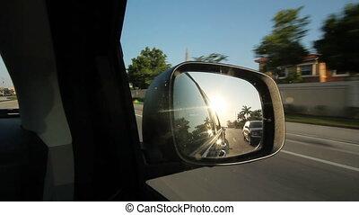 Suburban Florida. Sunny mirror.