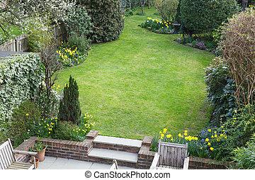 Suburban garden in London