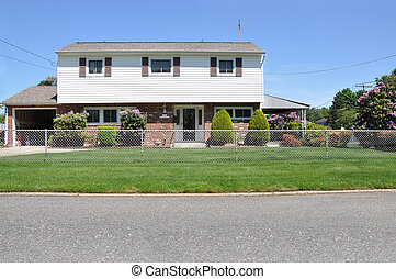 Suburban High Ranch Home Fenced