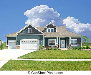 Suburban Home - A beautiful vinyl siding home in the suburbs in Michigan, USA.