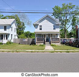 Suburban Home American Flag