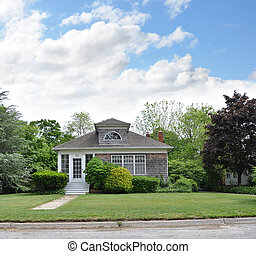 Suburban Home Front Yard Lawn