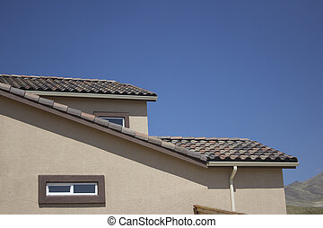 Suburban home roof shot