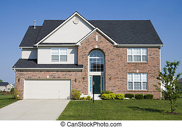 Suburban home - Typical suburban single family house in...