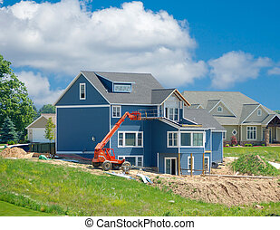 Suburban Home Under Construction