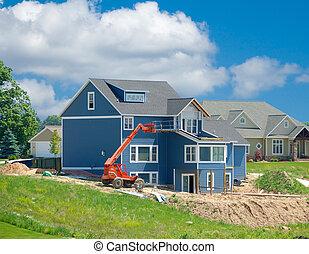 Suburban Home Under Construction
