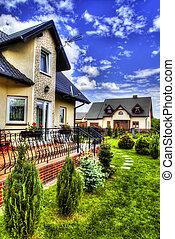 Suburban House with garden