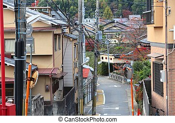 Suburban Japan homes