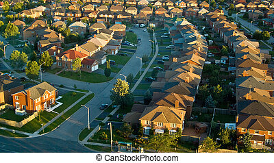 Suburban Neighbourhood - Neighborhood shot from a highrise...