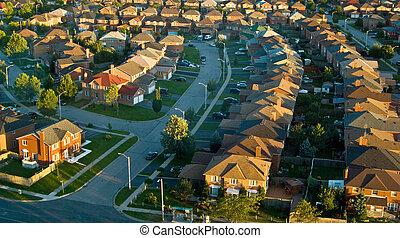 Neighborhood shot from a highrise building