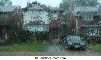 Suburban rain.