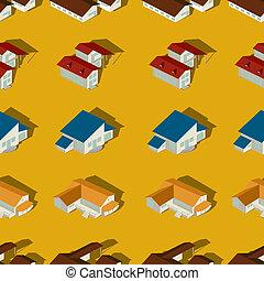 Suburban seamless pattern