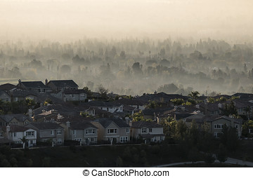 Suburban Sunrise Fog