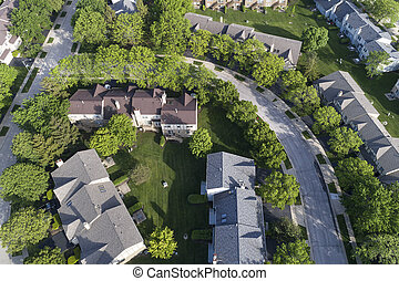 Suburban Townhouse Neighborhood Aerial