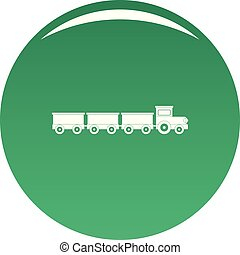 Suburban train icon vector green