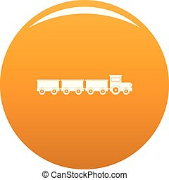 Suburban train icon vector orange
