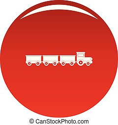 Suburban train icon vector red