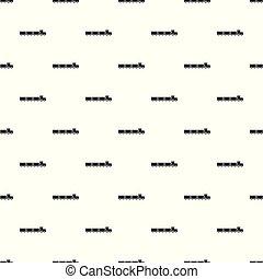 Suburban train pattern seamless vector