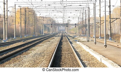 Suburban train station, suburb of Novosibirsk