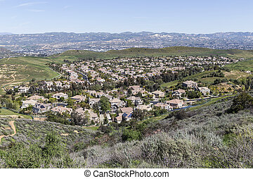 Suburban Valley Housing Tracts