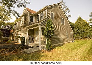 suburbano, condomínio, exterior