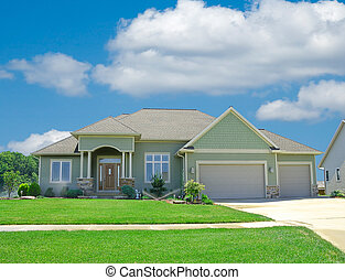 suburbano, vinilo, hogar, apartadero