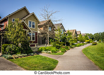 suburbia, in, fort, langley