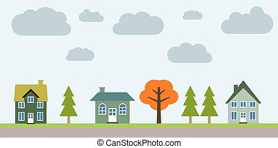suburbio, residencial