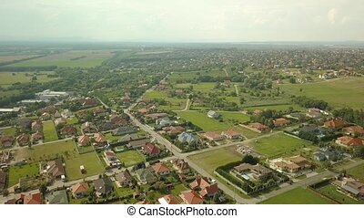 Suburbs from above - Aerial view of a residential streets...