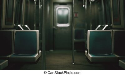 subway car in USA empty because of the coronavirus covid-19 ...