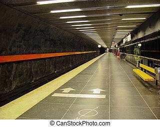 Subway in Stockholm (Sweden)