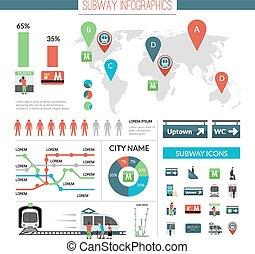 Subway Infographics Set
