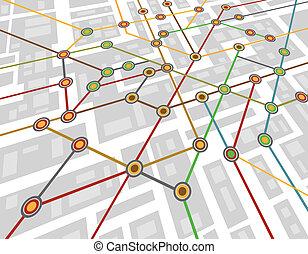 subway map - Colorful abstract subway map