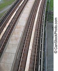 subway metal tracks