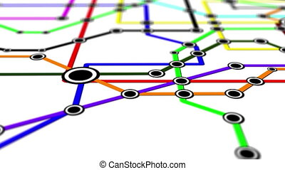 Subway Network People Connections