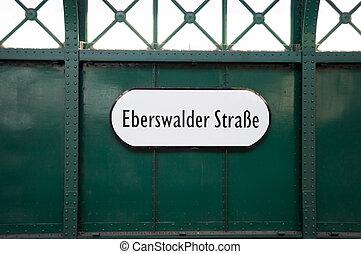 Subway sign, Berlin, Germany