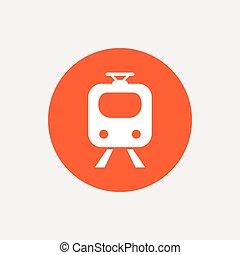 Subway sign icon. Train, underground symbol.