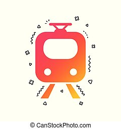 Subway sign icon. Train, underground symbol. Vector