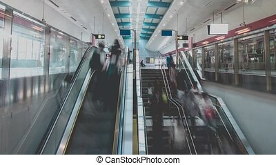 Subway Station And Unrecognizable People