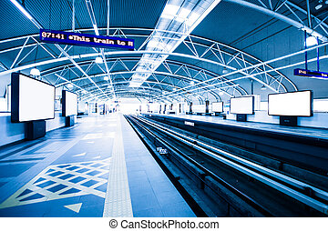 Subway station in Kuala Lumpur, Malaysia