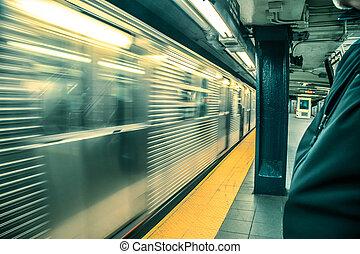 Subway Train Blur