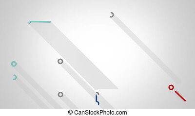 subway transport scheme animation with long shadows.