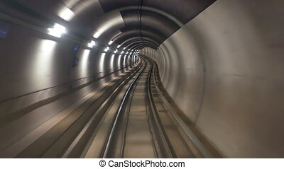 Subway tunnel speed - High speed ride through a subway...