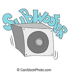 subwoofer speaker drawing